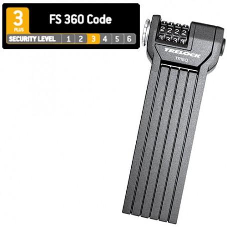 Trelock Faltschloss FS360 CODE 85cm Halter schwarz