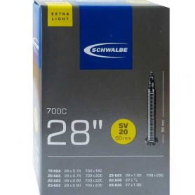 2x Schwalbe bicycle tube 18-23 / 622 SV 20 60mm Extra-Light