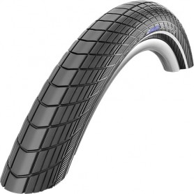Schwalbe Big Apple bicycle tyre RaceGuard 55-406 wired reflective strips black