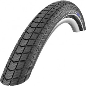 Schwalbe Big Ben Perform E-50 bicycle tyre 55-406 RaceGuard wired reflective strips black