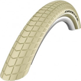 Schwalbe Big Ben bicycle tyre 55-559 wired reflective strips cream
