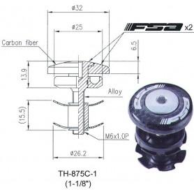 FSA Claw nut set FSA, 1 1/8 inch Carbon, black