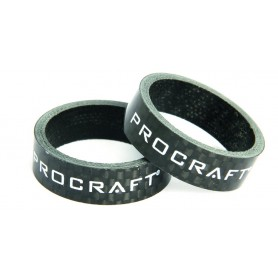 PROCRAFT Spacer Carbon 1 1/8 Zoll VE 2, 10 mm 1 1/8 Zoll, carbon