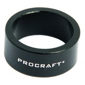 PROCRAFT Spacer Alu 1 1/8 Zoll VE 10, 15 mm 1 1/8 Zoll, schwarz