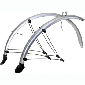 "Bike Mudguards 26"" 60 mm silver Plastic"