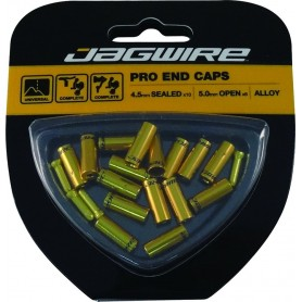 JAGWIRE End cap set Universal Pro, 4,5 and 5mm gold