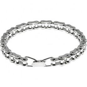 Connex Biker bracelet nickel-plated size S (19 cm) silver
