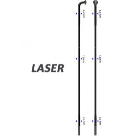 Sapim Spoke Laser 90° black 258mm Ø 2,0 x 1,50 x 2,0 / ALN