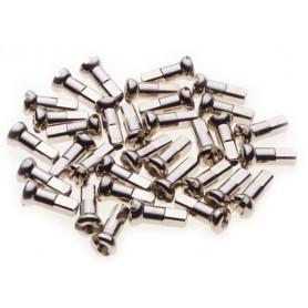 DT Swiss spoke nipple Pro Head, Ø 2.0, 12 mm, brass, silver, 100 pieces