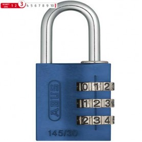 Abus Combination Lock 145/30 blue, Number Combination