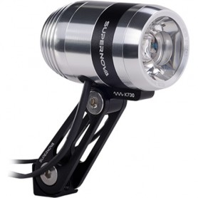 Supernova E3 Pro 2 LED Dynamo Headlight 205lm silver, with certif~