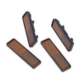 Pedal Reflectors to snap on - 50 x 8 mm - 4 pieces