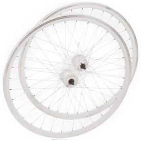 Wheel set Single Speed - 700 C 36 hole white white