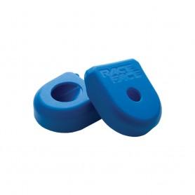 Race Face Crank Boot - Kurbelschutzgummi - M - blau - 1 Paar
