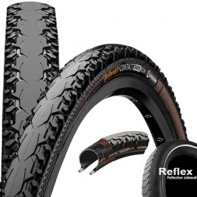 Continental CONTACT Travel bicycle tyre 42-622 Duraskin E-25 wired reflective black
