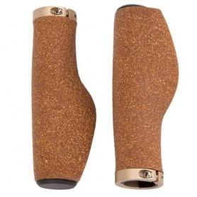 Ergotec grips Kyoto / Cork 130/130 brown /pair