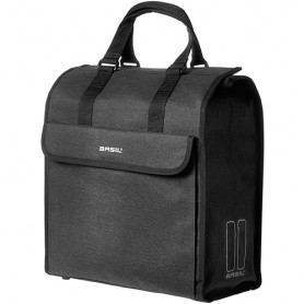 BASIL Shopping Bag MIRA black, 17 l W35x D15xH33
