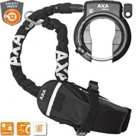 AXA Defender Rahmenschloss mit Kette RL 100 und Tasche 100 cm schwarz