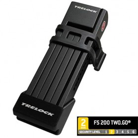 Trelock Folding lock FS 200 TWO.GO 75 cm, Holder black