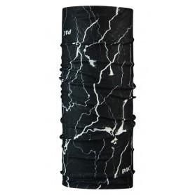 P.A.C. Halstuch Original aus Microfaser Flash Dark Black schwarz weiß