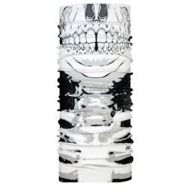 P.A.C. Scarf Bandana Original microfiber Facemask Skull white grey black
