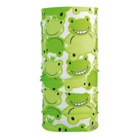 P.A.C. Halstuch Kids aus Microfaser Happy Frog grün weiß