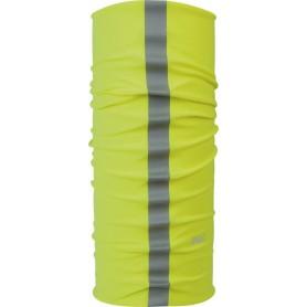 P.A.C. Halstuch Reflector aus Microfaser Neon Yellow gelb grau