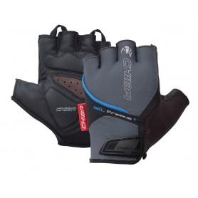 Chiba Gloves Gel Premium short size S grey blue