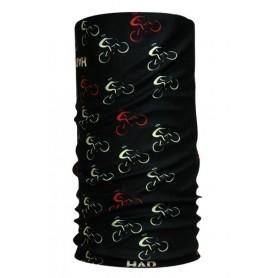 HAD Halstuch aus Funktionspolyester Bike black schwarz bunt