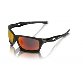 XLC Sun glasses Kingston black glass red mirrored with 2 replacement glasses