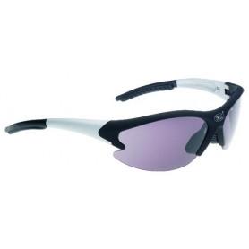 Racing Sun glasses Tuareg black silver glass smoke with 2 replacement glasses