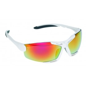 Racing Sun glasses Rio white glass silver mirrored with 2 replacement glasses