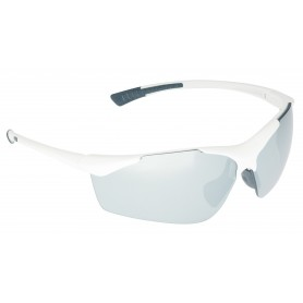 Sun glasses Toulouse white glossy glass silver with 2 replacement glasses