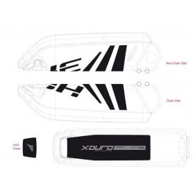 Dekor E-Bike Xduro f.Batteriegehäuse 2014,schwarz+dunkelgrau