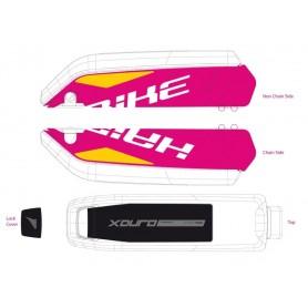 Dekor E-Bike Xduro f.Batteriegehäuse 2015,weiß+gelb