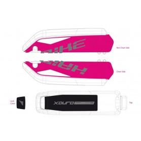 Dekor E-Bike Xduro f.Batteriegehäuse 2015,dunkelgrau+weiß