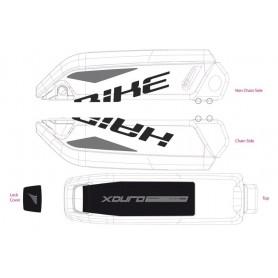Dekor E-Bike Xduro f.Batteriegehäuse 2015,schwarz+grau