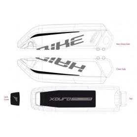 Dekor E-Bike Xduro,für Batteriegehäuse Gen2 2015,carbon+grün matt