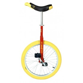 Unicycle QU-AX Luxus 20 inch red Alu rim tire yellow