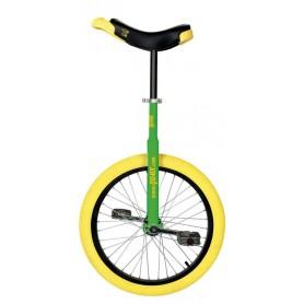 Unicycle QU-AX Luxus 20 inch green Alu rim tire yellow