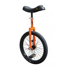 Unicycle QU-AX Luxus 20 inch orange Alu rim tire black