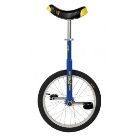 Unicycle QU-AX Luxus 18 inch blue Alu rim tire black