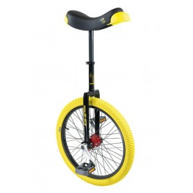 Unicycle QU-AX Profi 20 inch ISIS black Alu rim tire yellow