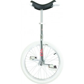 Unicycle OnlyOne 20 inch chromed Indoor Alu rim tire white