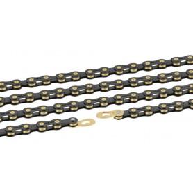XLC Chain CC-C08 1/2 x 11/128 114 links 10-speed black gold