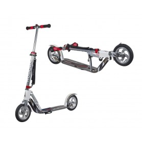 Hudora City Scooter Big Wheel Air Alu 8 inch 205 Air white silver