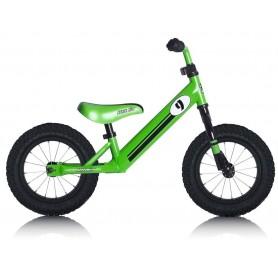 Lernlaufrad Rebel Kidz Air 12.5 Zoll, Stahl, Race Motiv grün