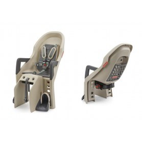 Polisport Child's seat Guppy Maxi CFS mounting Pannier rack creme grey
