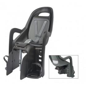 Polisport Child's seat Groovy Maxi CFS mounting Pannier rack black grey