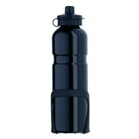 Alu-Trinkflasche - 750 ml - schwarz